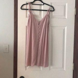 topshop Pink Button up dress